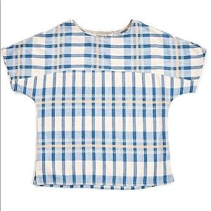Ace & Jig Poppy Tee In Honor Blue Plaid Cotton